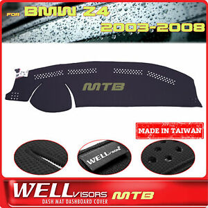 Black Dash Mat For Bmw 2003 2008 Z4 Wellvisors Dashboard Cover
