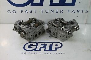 08 18 Subaru Wrx Sti W25 Cylinder Head Heads Set Pair Lh Rh Cleaned Damaged 09