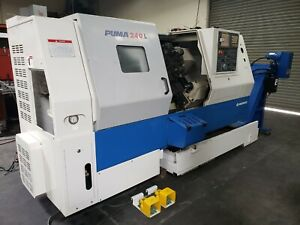 2004 Daewoo 240l Cnc Lathe Turning Center Low Hrs Loaded With Tooling