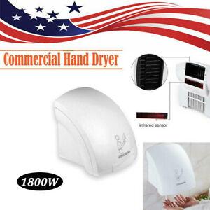 Air Hand Dryer Electric Automatic Sensor Commercial Bathroom 1800w Speed Usa