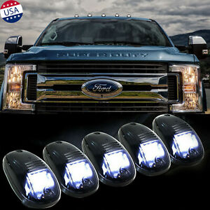 5x Smoked Lens Roof Lamp Rooftop Driving Light For Ford F 150 F 250 F 350