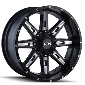 4 new 22 Ion 184 Wheels 22x10 5x5 5 5x139 7 19 Satin Black Milled Rims