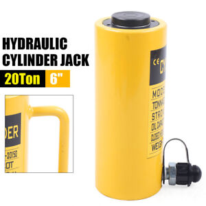 Hydraulic Cylinder Jack 50 Tons 6 Stroke Single Acting Hollow Ram Heavy Duty