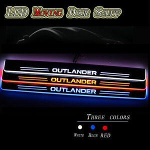 For Mitsubishi Outlander 07 19 Led Car Scuff Plate Pedal Door Sill Moving Light