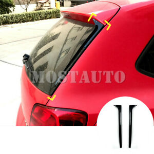 For Volkswagen Vw Polo Mk5 2x Rear Window Spoiler Side Wing Trim Cover 2011 2017