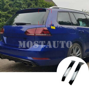 For Vw Golf 7 Variant Wagon Black Rear Window Spoiler Side Wing Cover 2013 2017