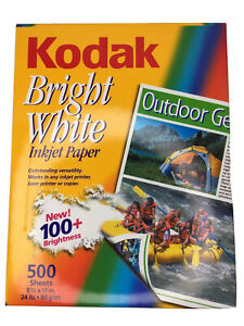 Vtg Kodak Bright White Inkjet Paper 500 Sheet 24lb 100 Brightness Out Of Print