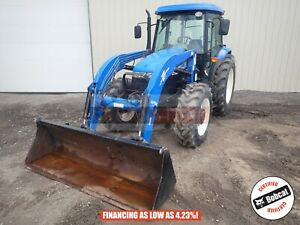 2012 New Holland Td5050 Loader Tractor Cab Heat ac 4x4 3 Point 2598 Hours 95 Hp