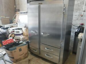 Traulsen Ur48dt a Commercial 48 Wide Stainless Steel Refrigerator