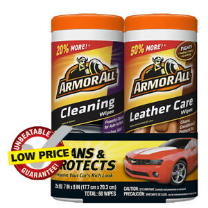 Armor All Car Cleaning And Leather Wipes Interior Cleaner For Cars
