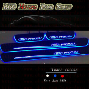 4pc Led Door Sill For Ford Focus 2012 2019 Moving Led Door Scuff Plate Pedal