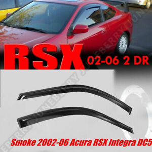 Fit For 02 06 Rsx Window Rain Guard Visors 2dr Coupe Dc2 Acura Integra Jdm style