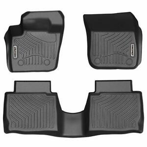 Oedro Black Unique Tpe Floor Mats Liners For 2013 2016 Ford Fusion All Weather
