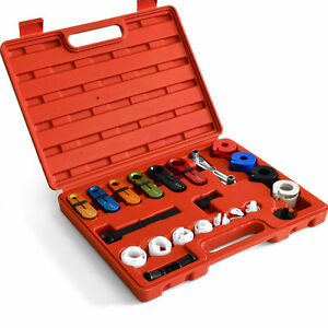 22pcs A C Ac Fuel Air Conditioning Line Disconnect Kit Hand Repair Tool