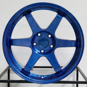4 new 18 Vordoven Forme 10 Wheels 18x9 5 5x114 3 30 Candy Blue Rims 73 1