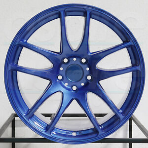 4 new 18 Vordoven Forme 9 Wheels 18x9 5 5x114 3 22 Candy Blue Rims 73 1