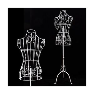 Female White Metal Steel Wire Mannequin Dress Form