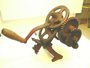 Vintage Mccormick Deering Sickle Bar Sharpener Gear Driven Farm Hay Harvest