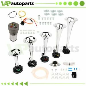 5 Trumpets Dukes Of Hazzard Musical Dixie Horn Compressor Kit For Car Lorry Boat