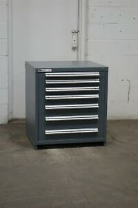 Used Stanley Vidmar 7 Drawer Cabinet 33 High Industrial Tool Storage 2190