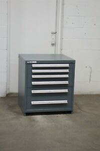 Used Stanley Vidmar 6 Drawer Cabinet 33 High Industrial Tool Storage 2186