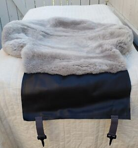 Sheepskin Seat Cushion Light Grey Color Only 1 Piece high Quality