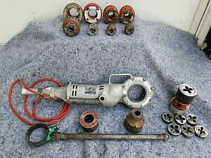 Ridgid Model 700 Power Drive Pony Pipe Threader 1 2 2 Adapters 12r Die Kit