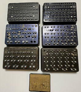 Horberg Co Bridgeport Conn Drill Size Pin Gage 6 Sets 1 Fractions 5 numbers