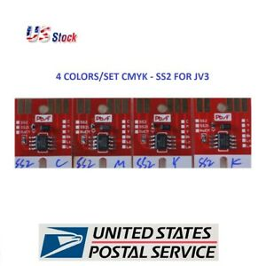 Mimaki Chips permanent For Jv3 Model Ss2 4pcs Us Fast Shipping