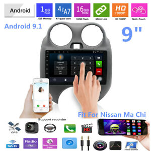 9 Car Android9 1 4 core Gps Navigation Stereo Radio Mp5 Player For Nissan March