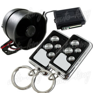 1 Way 4 Button Remote Siren Search Black Chrome Security Alarm For Chevy Ford
