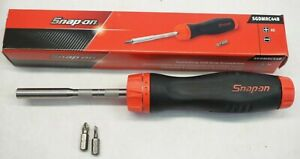 New Snap on Sgdmrc44b Ratcheting Soft Grip Screwdriver Red