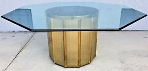 70 S Mastercraft By Bernard Rohne Hollywood Regency Octagonal Brass Dining Table