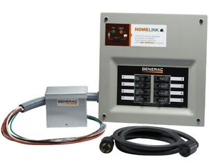Generac Homelink Pre wired Manual Transfer 30 Amp Switch W aluminum Inlet Box