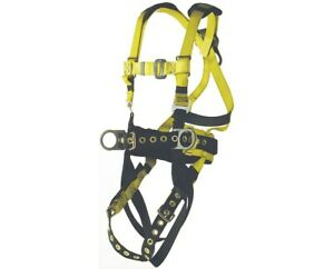 Ultra Safe Ironworker s Full Body Harness With Back Pad And Tool Belt x large