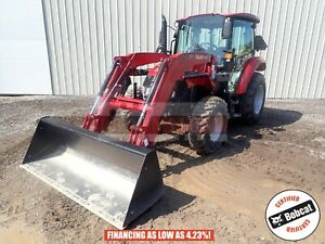 2016 Case 65c Loader Tractor Cab Heat ac 4x4 3 Point 2 Remotes 211 Hours 64 Hp