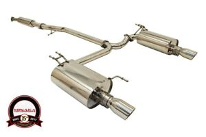 Yonaka Acura Tsx 2004 2008 Stainless Steel Polished Dual Catback Exhaust Cl9 K24