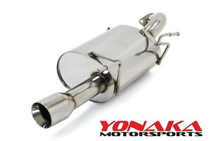 Yonaka Axleback Exhaust For 12 17 Mitsubishi Lancer Stainless Steel 2 0l Fwd