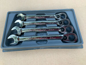 Blue Point 4 Pc 15 Offset Ratcheting Box Open End Wrench Set Boerm704