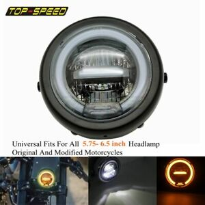 6 5 In Universal Vintage Motorcycle Led Head Lamp Refit Headlight For Cafe Racer