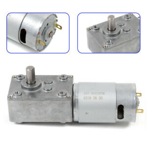 3 Rpm 12v Dc Electric Turbo Worm Gear Motor Low Speed High Torque Reversible