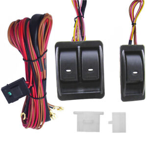 12v Universal Power Window Switch Kits With Wiring Harness Switch Holder Stock