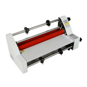 13 Laminating Manual Mount Machine 350mm Hot Cold Roll Film Laminator 700w