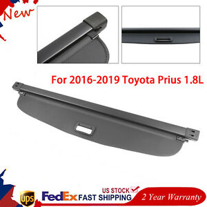 For 2016 19 Toyota Prius Retractable Cargo Cover Rear Trunk Privacy Shade Black