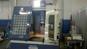 Used Hwacheon Sirius U Cnc Vertical Machining Center Vmc Mill Fanuc 10k