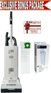 Sebo 91542am Automatic X7 White Premium Upright Vacuum Cleaner W Bonus Package