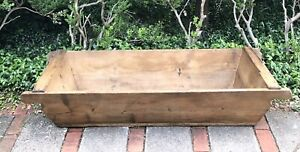 Antique French Large Rectangular Wooden Dough Trough Early 20th Century 66 In