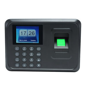 Lcd Fingerprint Attendance Machine Time Clock Employee Checking in Reader P5q5