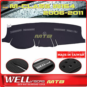 Black Dash Mat For Mercedes 2006 2011 M class W164 Wellvisors Dashboard Cover