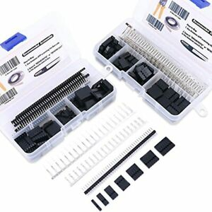 Hilitchi 425 Pcs 40 Pin 2 54mm Pitch Single Row Headers Connector Housing Dupont